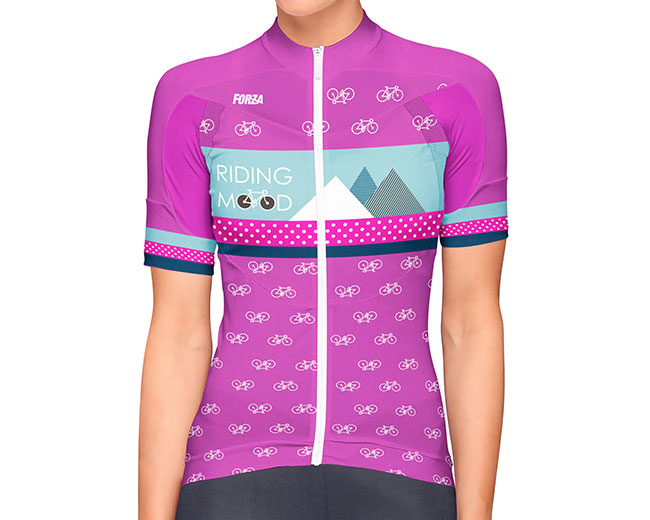 6398c3d506 Camiseta de Ciclismo Mujer manga corta Bike Mood - Forza Fit Wear ...