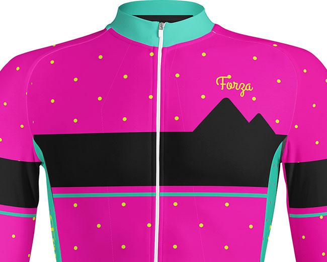 Camisetas-Ciclismo-Mujer-Manga-larga-Dots-3 - Forza Fit Wear Ropa ... 4b0255afabd48