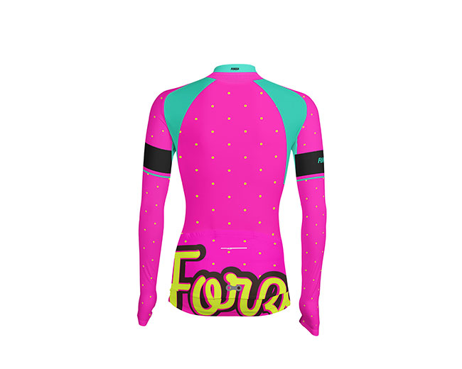 Camisetas-Ciclismo-Mujer-Manga-larga-Dots-espalda - Forza Fit Wear ... 1e09274db8374