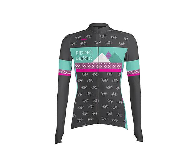 Camiseta de Ciclismo Mujer Manga Larga RidingMood - Forza Fit Wear ... efc93f1d0df96