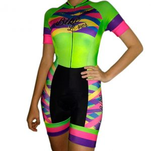 Enterizo ciclismo mujer manga corta Forza