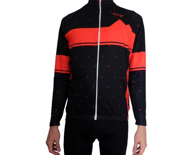 Camiseta de Ciclismo Hombre manga larga Dots - Forza Fit Wear Ropa ... 0303d63ab176b