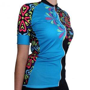 camisa manga corta ciclismo mujer