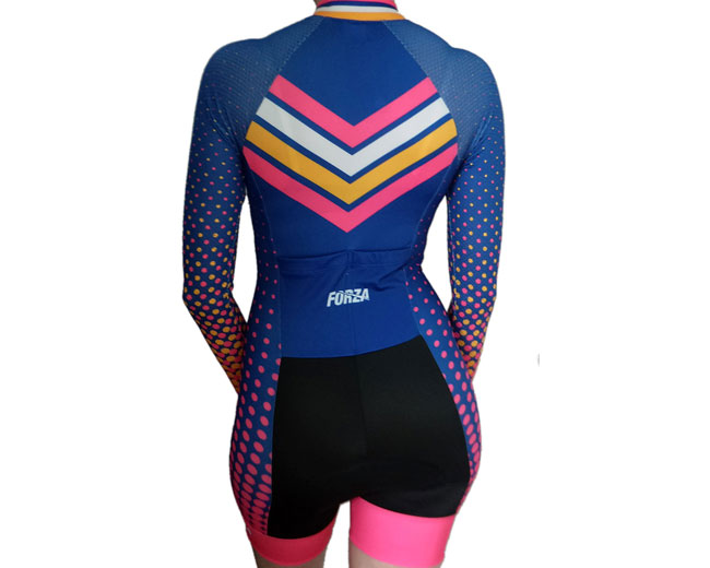 Enterizo-ciclismo-manga-larga-mujer-ropa-deportiva-forza-dots-azul-4 ... ea5bfab4c830a