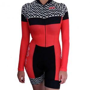 Enterizo de ciclismo manga larga mujer