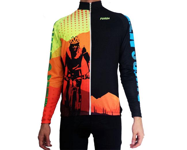 mejor selección de 2019 cómo llegar calidad perfecta Camiseta de Ciclismo Hombre manga larga Bikers MTB - Forza ...