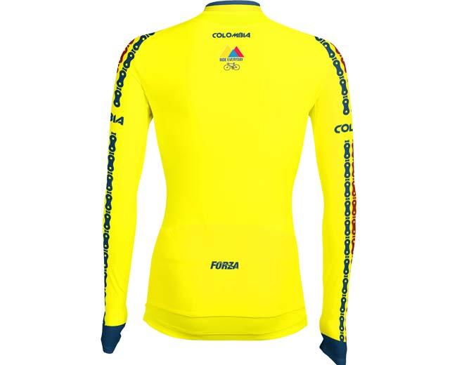 venta outlet bajo precio zapatillas de deporte para baratas Camiseta-manga-larga-de-ciclismo-para-mujer-forza-colombia ...