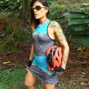 Enterizo falda de ciclismo para mujer