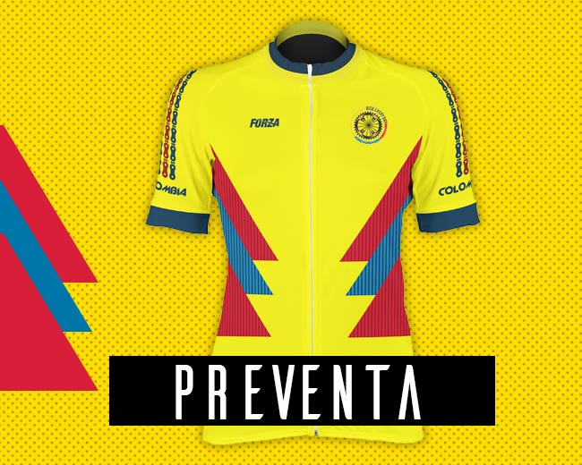 Camiseta de Colombia Rusia 2018 ciclismo mujer manga corta - Forza ... 3e3688b16766c